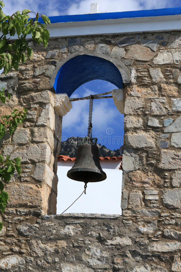 The Orthodox church in Zia. Kos Island ,. The bell tower at the Orthodox church in Zia. Kos Island , Greece royalty free stock photo