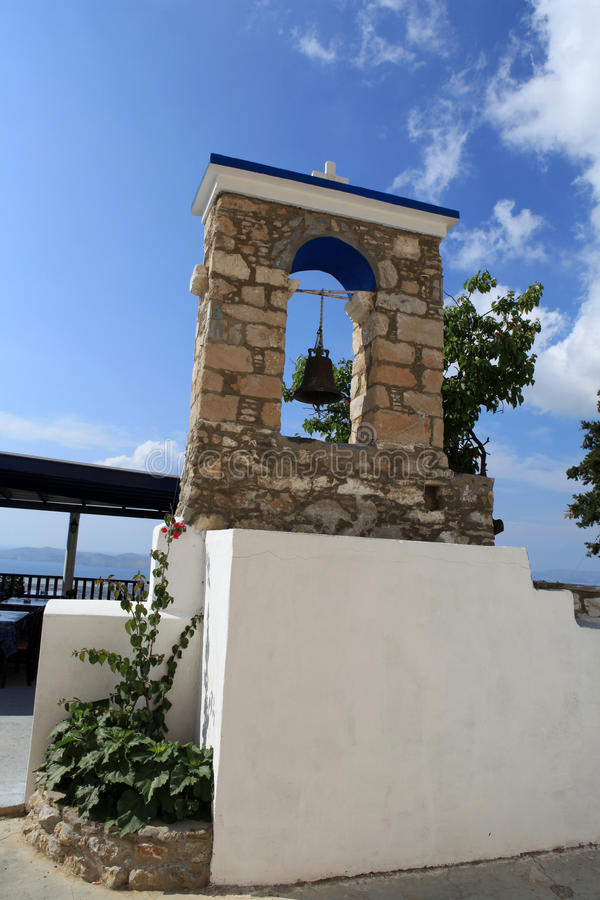 The Orthodox church in Zia. Kos Island ,. The bell tower at the Orthodox church in Zia. Kos Island , Greece stock photo