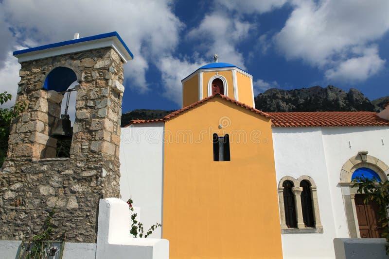 Orthodox church in Zia. Kos Island , Greece. The bell tower at the Orthodox church in Zia. Kos Island , Greece royalty free stock image