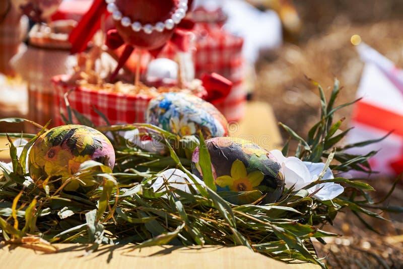 Orthodox Easter Decorations. Georgian Orthodox Easter stock photos