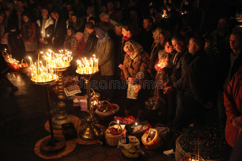 Orthodox Easter in Prague, Czech Republic royalty free stock images