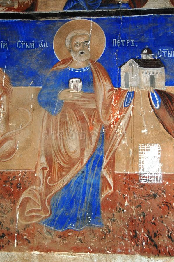 Orthodox frescoes. Picture of a Orthodox frescoes in Macedoinia.Religious theme stock images