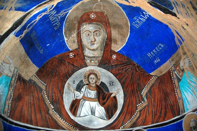 Orthodox frescoes. Picture of a Orthodox frescoes in Macedoinia.Religious theme royalty free stock photo