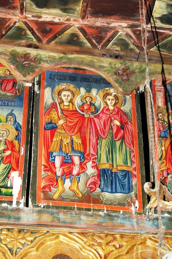 Orthodox frescoes. Picture of a Orthodox frescoes in Macedoinia.Religious theme stock photo