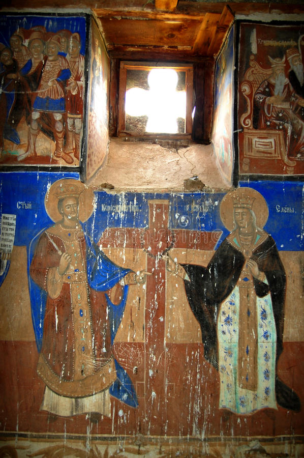 Orthodox frescoes. Picture of a Orthodox frescoes in Macedoinia.Religious theme royalty free stock photography