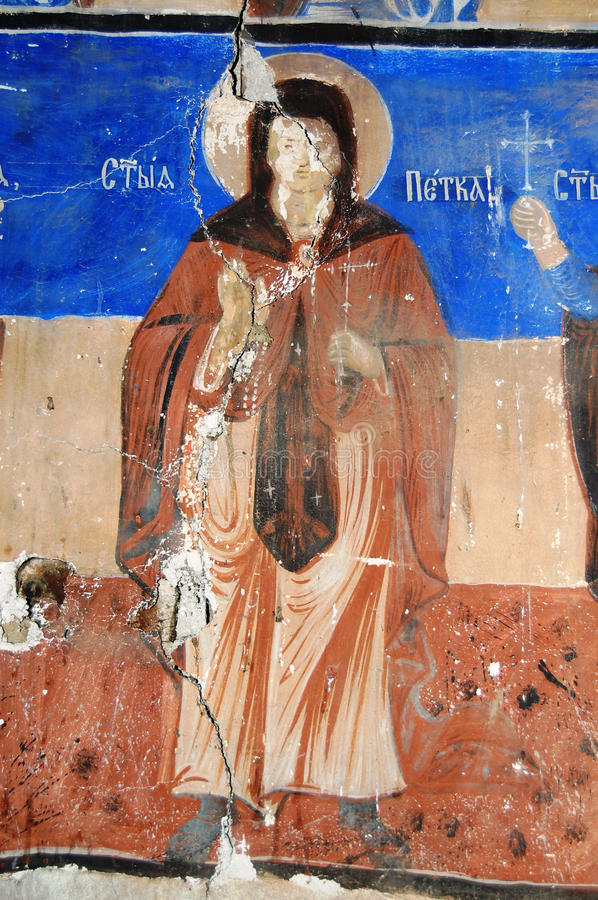 Orthodox frescoes. Picture of a Orthodox frescoes in Macedoinia.Religious theme royalty free stock images