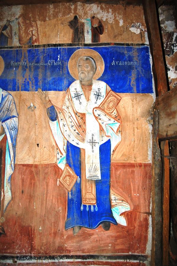 Orthodox frescoes. Picture of a Orthodox frescoes in Macedoinia.Religious theme royalty free stock image