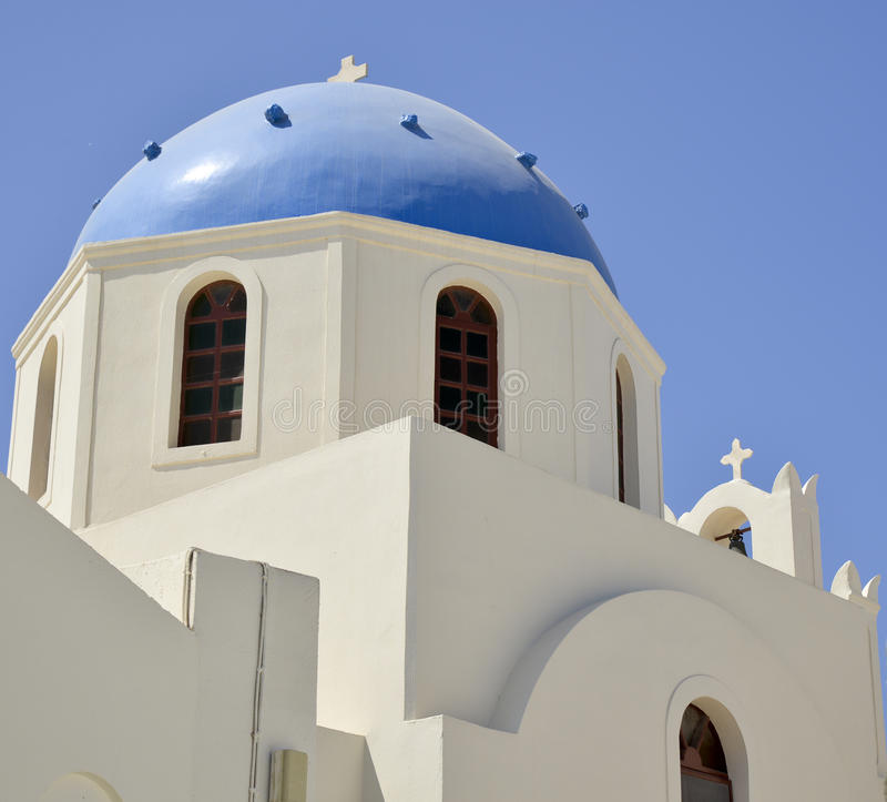 Orthodox Greek church. Exterior of an orthodox Greek church in Oia on Santorini island, Greece royalty free stock photography