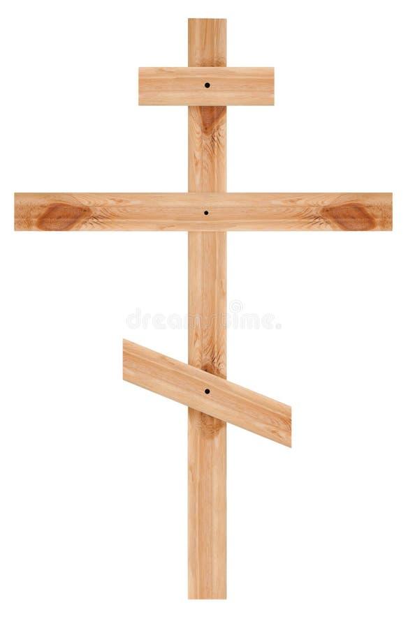 Orthodox houten kruis royalty-vrije stock foto's