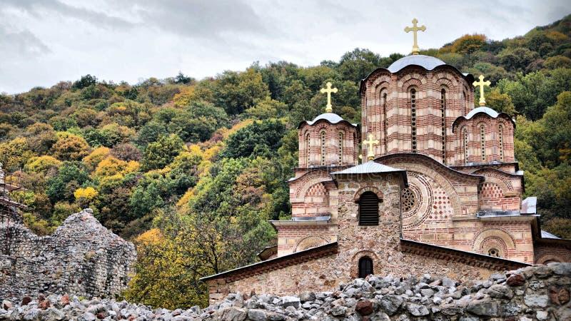 Orthodox klooster stock afbeelding