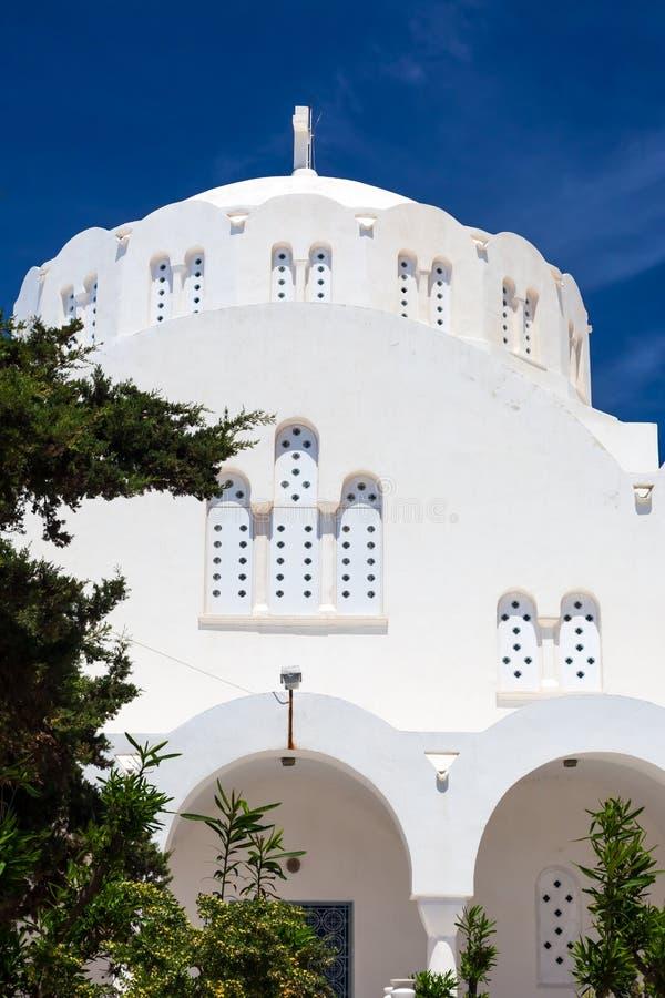 Download Orthodox Metropolitan Cathedral Fira Santorini Greece Stock Image - Image of buildings, honeymoon: 33706837
