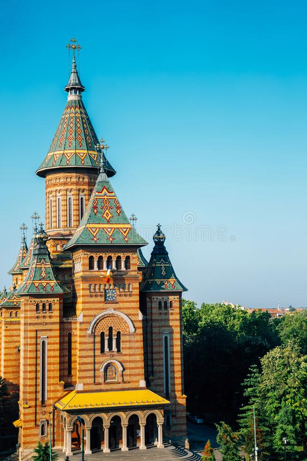 Orthodox Metropolitan Cathedral in Timisoara, Romania. Europe royalty free stock photography