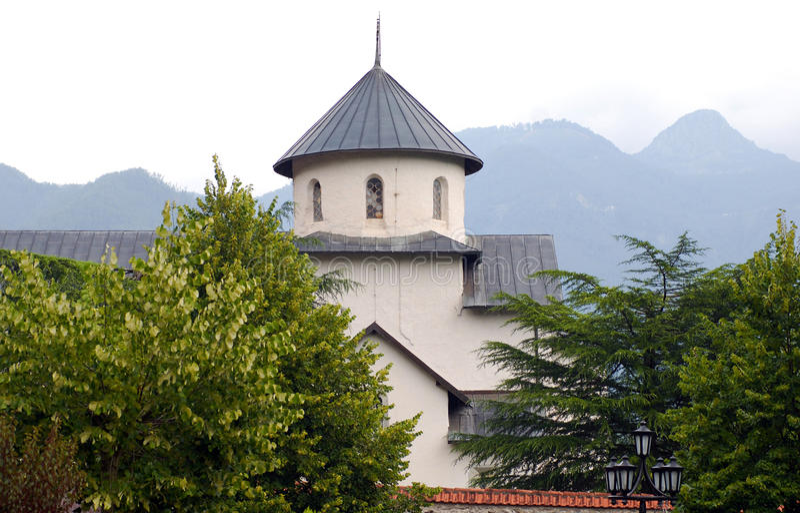 Orthodox Monastery 13 Century, Montenegro Stock Photo