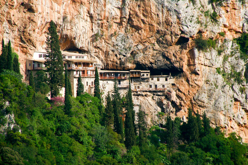 Orthodox Monastery in Greece royalty free stock photography