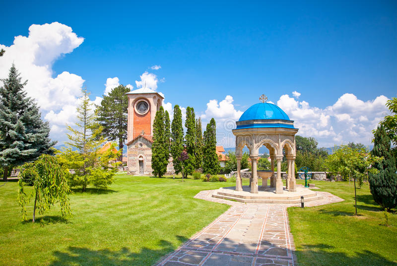 Orthodox Monastery Zica, near Kraljevo, Serbia. Orthodox Monastery Zica, built in 13th century, near Kraljevo, Serbia royalty free stock image