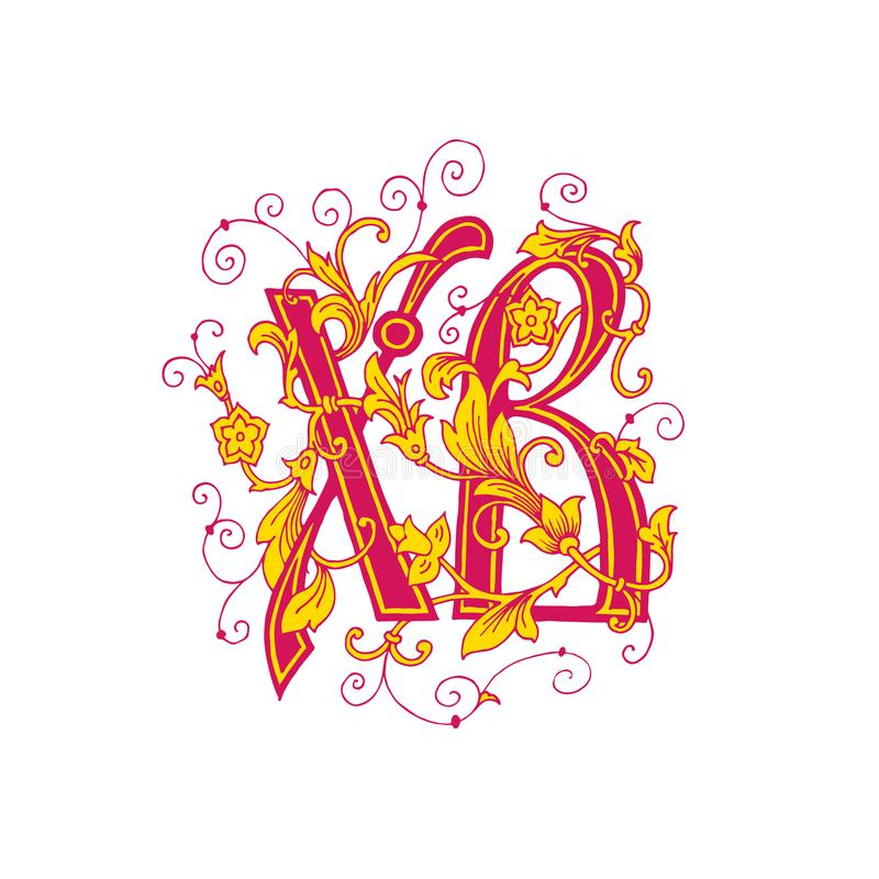 Orthodox Religious design, faith symbol. Easter Sign. Russian Cyrillic lettering Happy Easter royalty free illustration