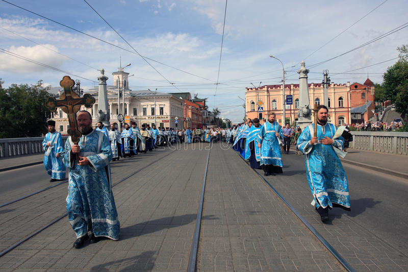 Orthodox religious procession royalty free stock photography