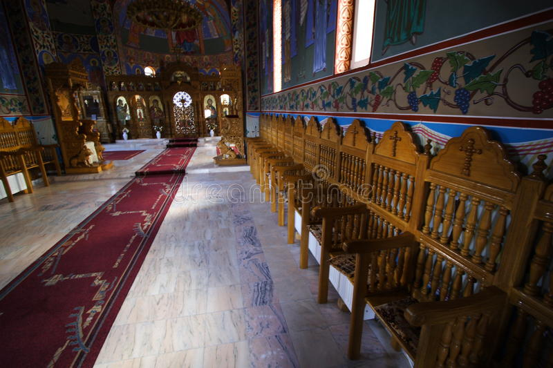 Orthodox romanian monastery royalty free stock images