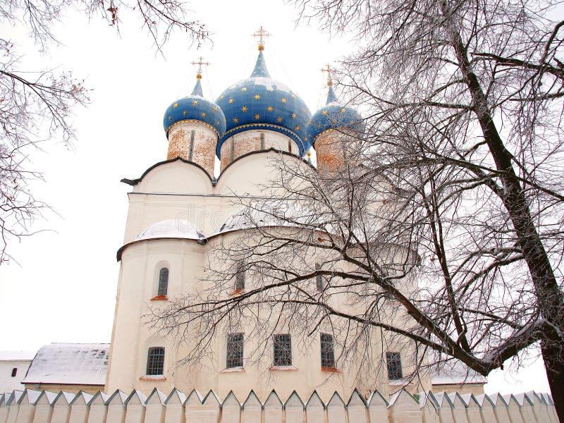 Orthodox Rusland. Oude kathedraal stock afbeeldingen