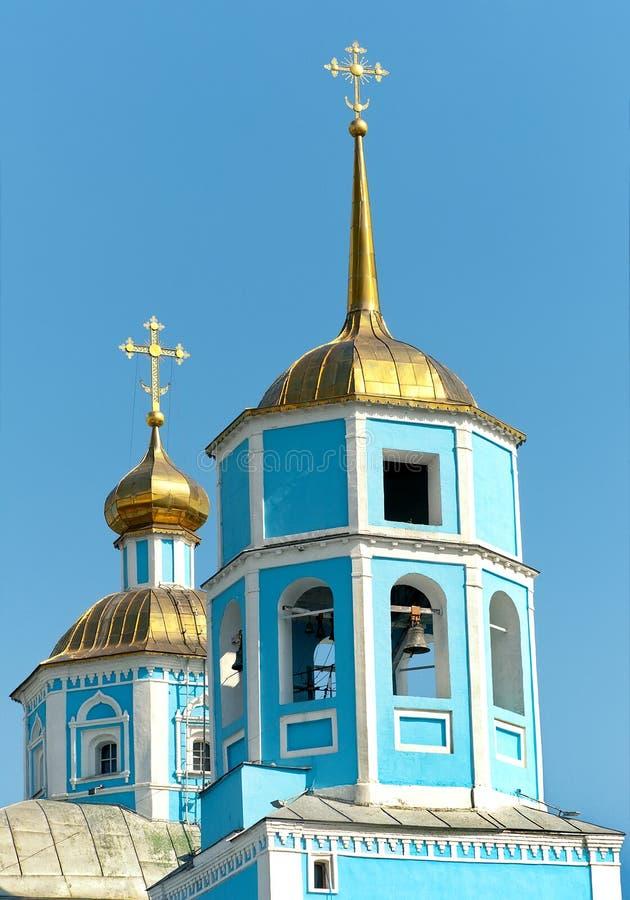 Orthodox Smolensky Cathedral. Belgorod city, Russia. Vertical photo stock photo