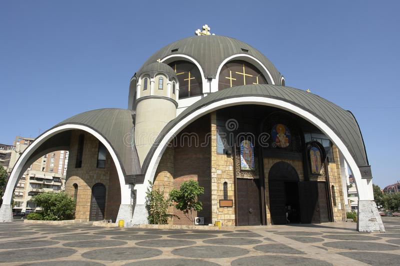 Orthodox Temple In A Modernist Style Stock Images