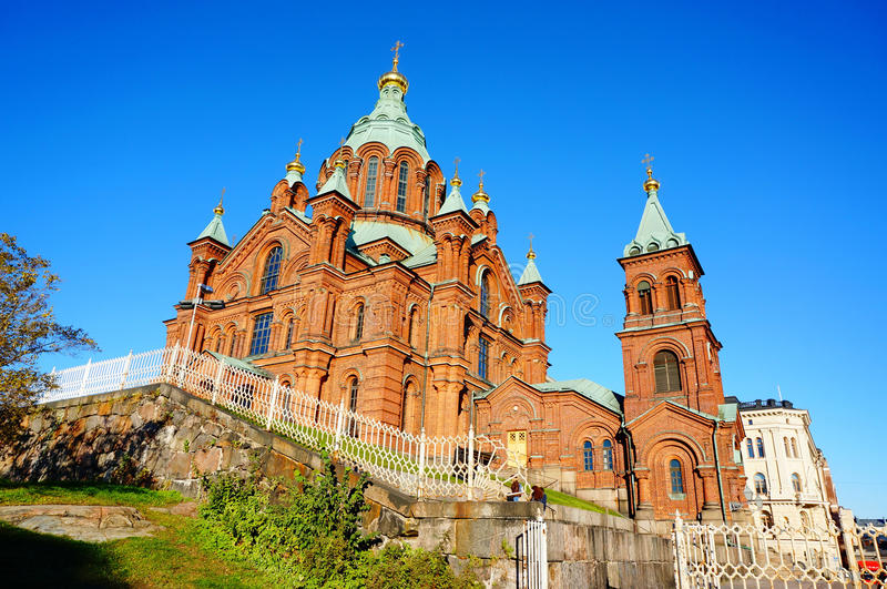 Orthodox Uspensky Cathedral in Helsinki, Finland stock photo