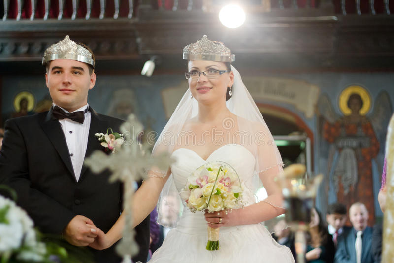 Orthodox wedding ceremony royalty free stock photography