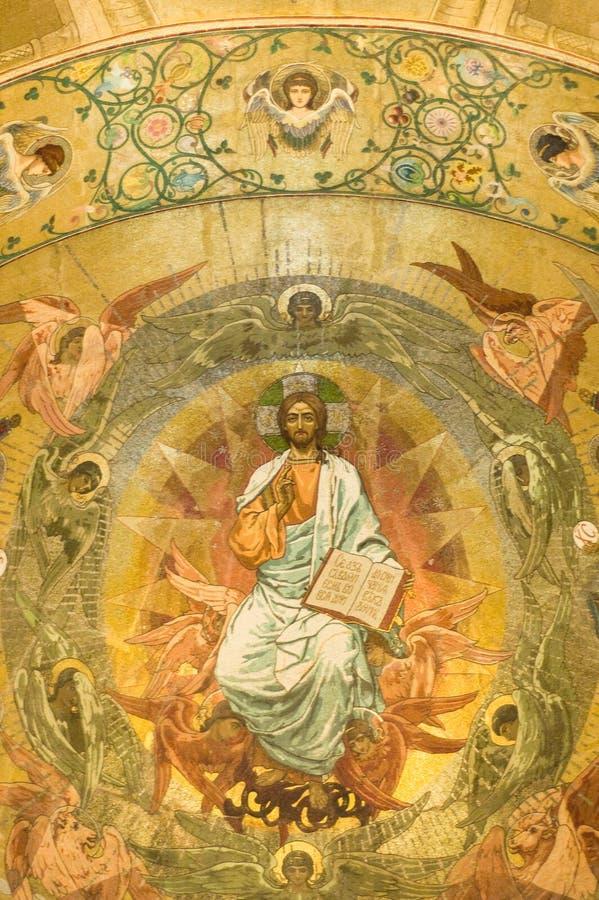Orthodoxe fresko stock foto