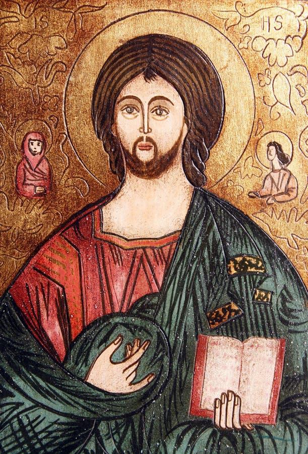 Orthodoxe Ikone des Jesus Christus lizenzfreie stockfotografie