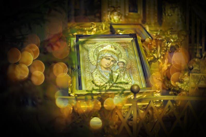 Orthodoxe Ikone von Motrer Mary stockfotos