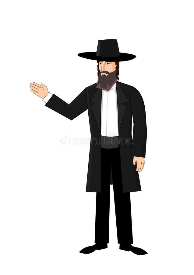 Orthodoxe Joodse mens vector illustratie