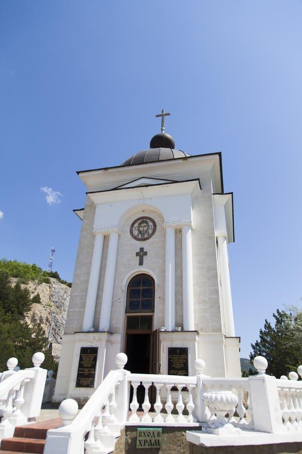 Orthodoxe kapel in bergen stock afbeeldingen