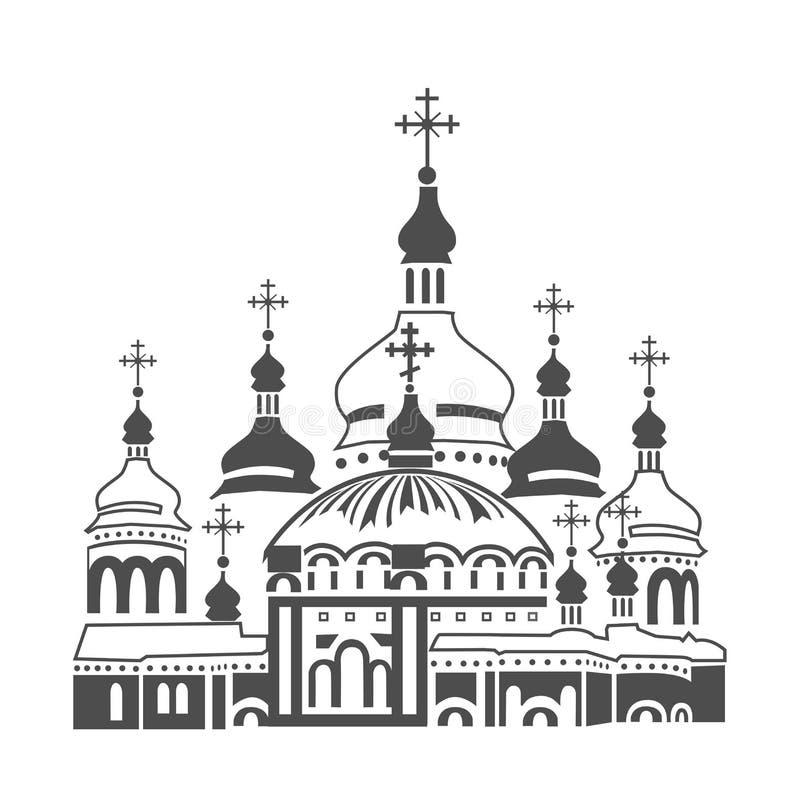 Orthodoxe kathedraal vector illustratie