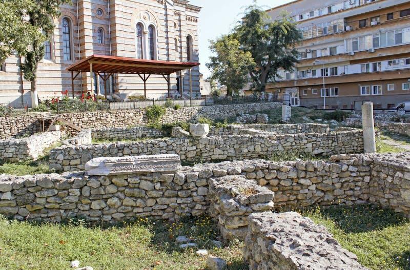 Orthodoxe Kathedraal en Archeologisch Park Constanta Roemenië stock foto's