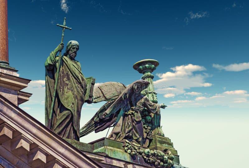 Orthodoxe kathedraal in heilige-Petersburg stock afbeelding