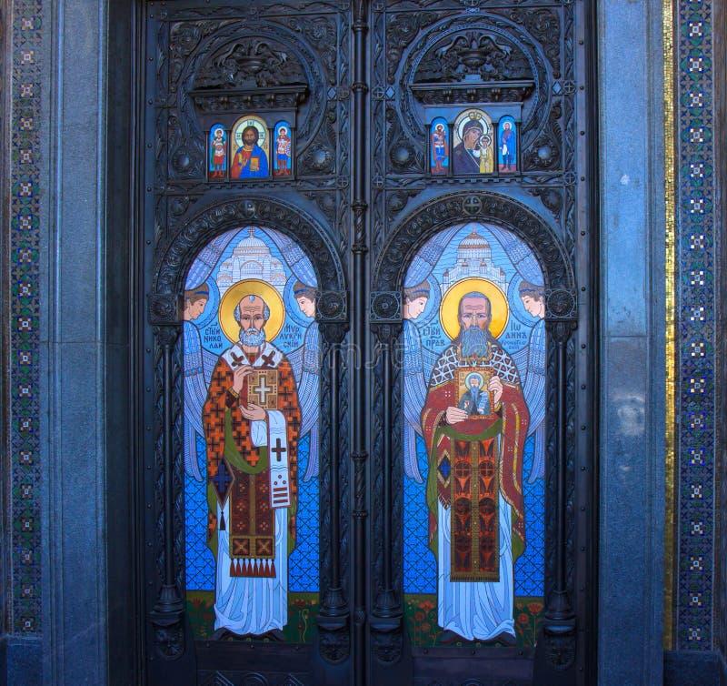 Orthodoxe kathedraal in heilige-Petersburg stock fotografie