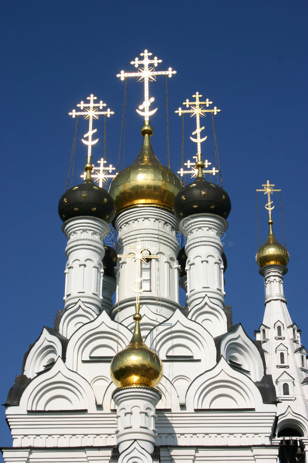 Orthodoxe kathedraal in Rusland stock foto's