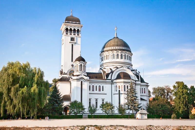 Orthodoxe kathedraal, Sighisoara, Roemenië stock afbeeldingen
