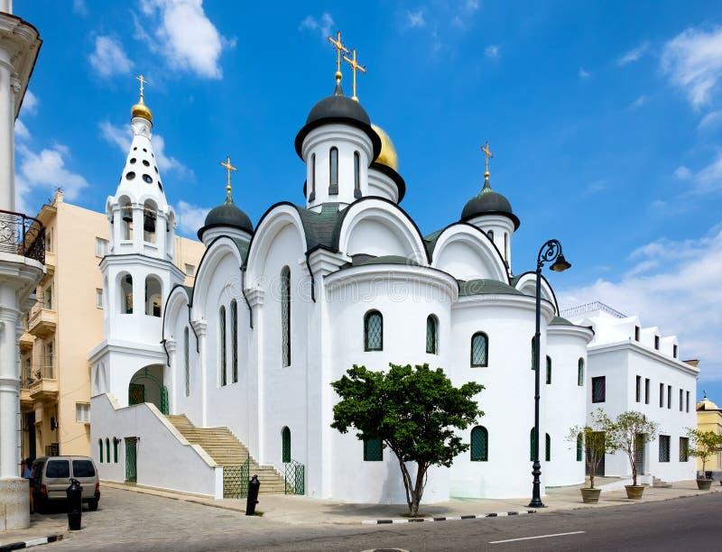 Orthodoxe Kathedrale in altem Havana stockbild