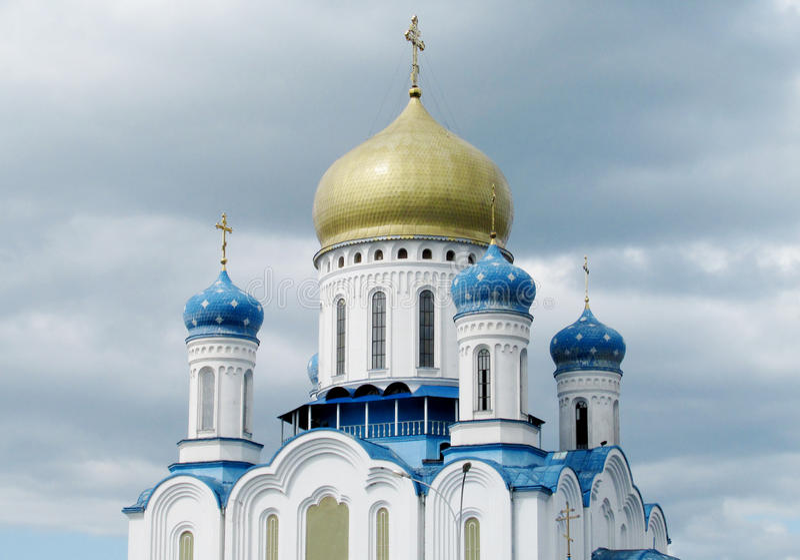 Orthodoxe Kathedrale des heiligen Kreuzes in Uzhorod stockbild
