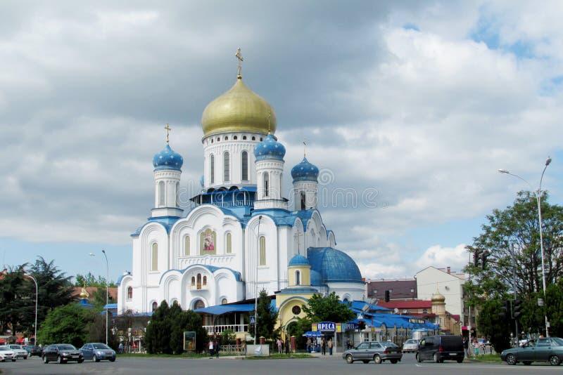 Orthodoxe Kathedrale des heiligen Kreuzes in Uzhorod stockbilder