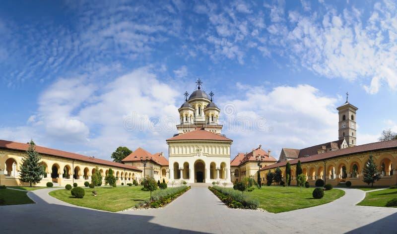 Orthodoxe kerk in alba iulia, Transsylvanië stock foto