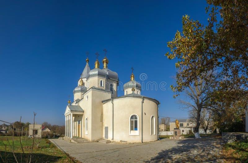 Orthodoxe Kerk in Dobroslav, de Oekraïne royalty-vrije stock foto's