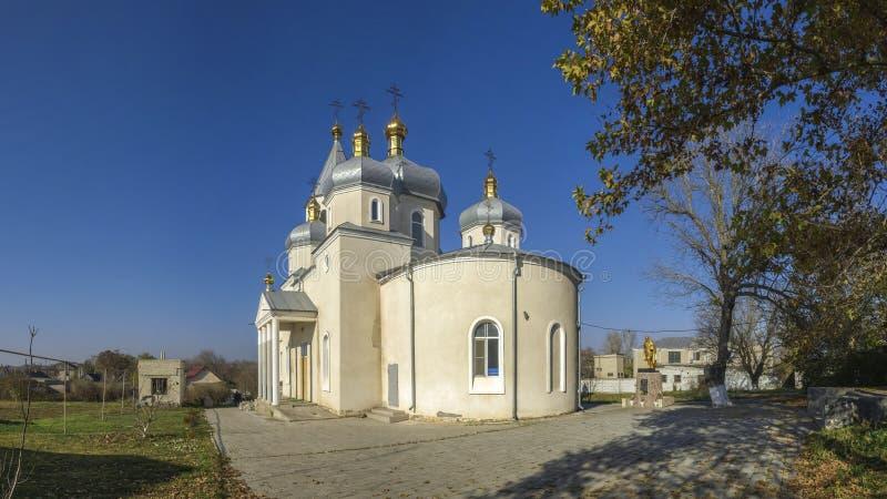 Orthodoxe Kerk in Dobroslav, de Oekraïne stock afbeelding