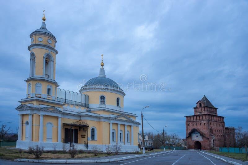 Orthodoxe kerk in Kolomna, Rusland stock afbeelding