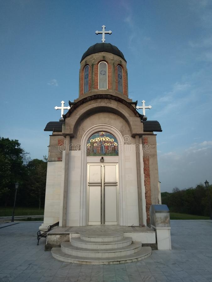 Orthodoxe kerk in Kragujevac royalty-vrije stock afbeeldingen