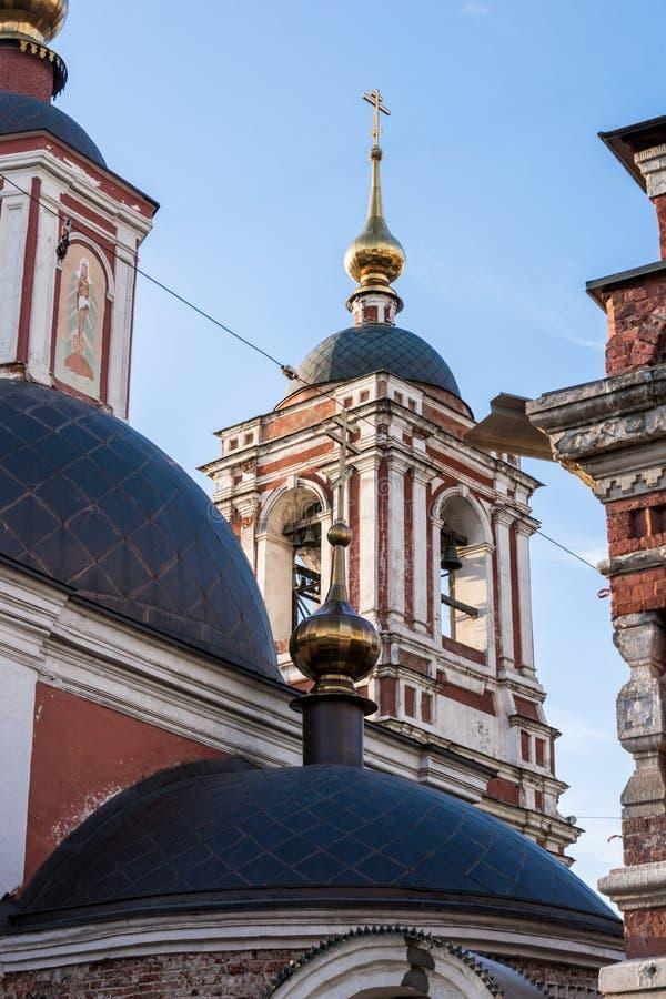 Orthodoxe kerk in Moskou, Kitai -kitai-gorod royalty-vrije stock afbeeldingen