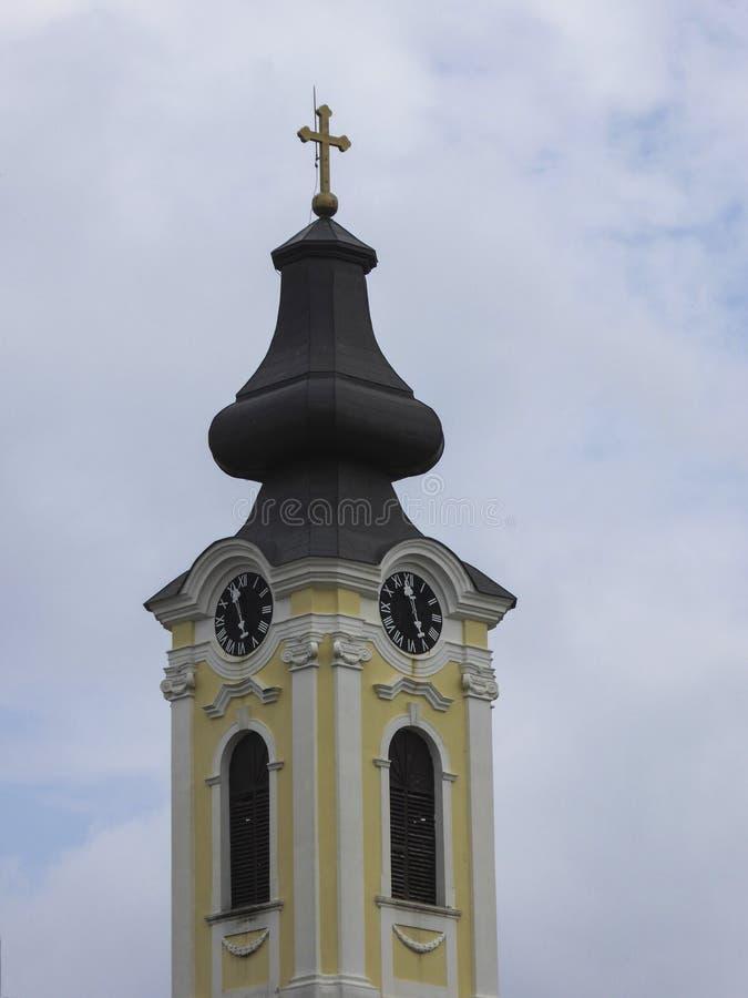 Orthodoxe kerk in Novi Becej, Vojvodina, Servië royalty-vrije stock foto