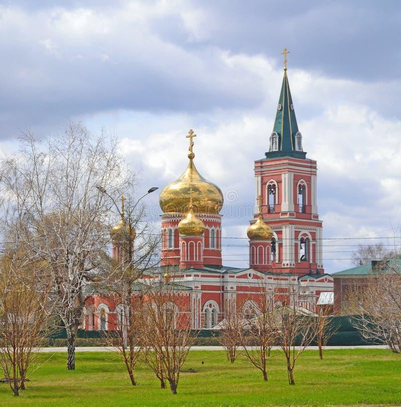 Orthodoxe kerk in Rusland stock foto