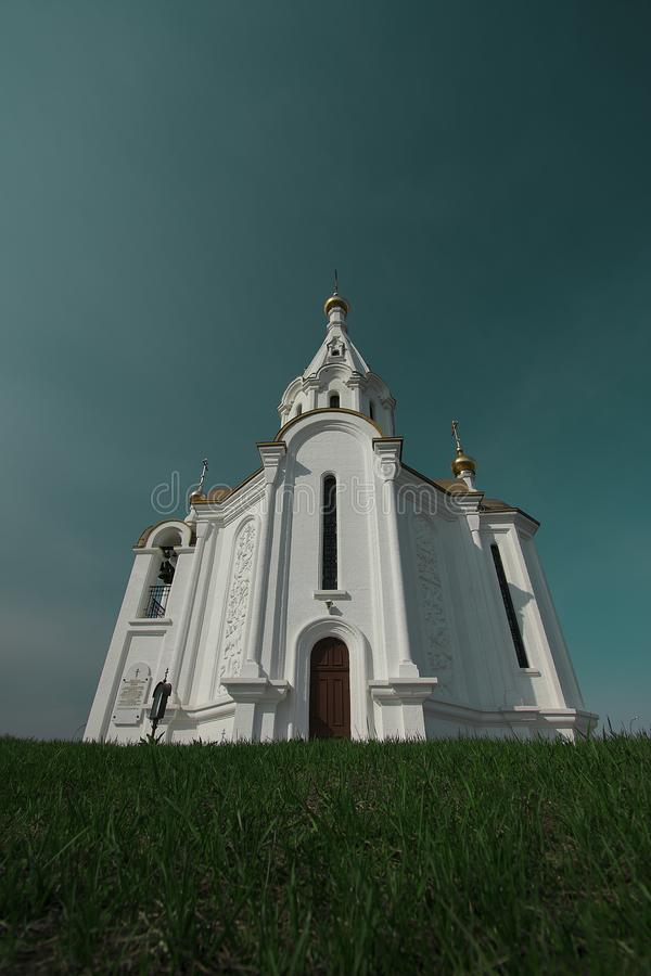 Orthodoxe kerk in Rusland royalty-vrije stock foto